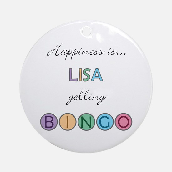 Lisa BINGO Round Ornament