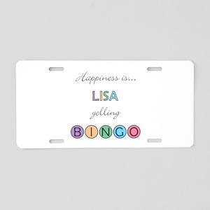 Lisa BINGO Aluminum License Plate