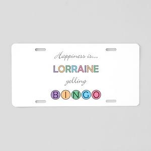 Lorraine BINGO Aluminum License Plate