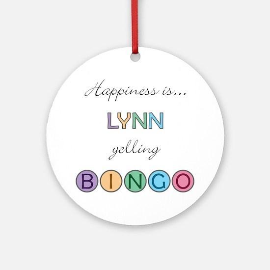 Lynn BINGO Round Ornament