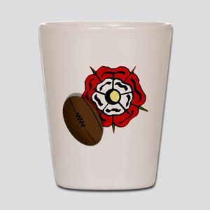 England Rose Rugby Shot Glass