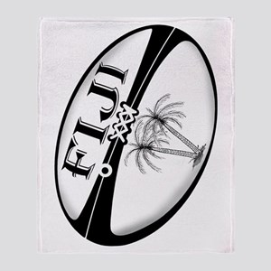 Fiji Rugby Ball Throw Blanket