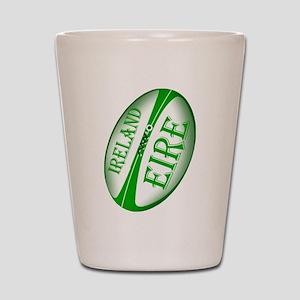 Eire Ireland Rugby Shot Glass