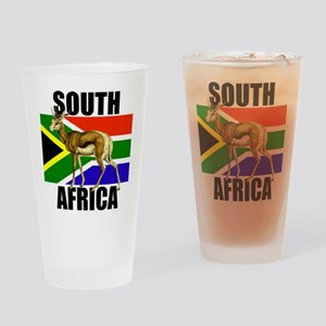 South Africa Springbok Drinking Glass
