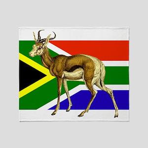 South Africa Springbok Flag Throw Blanket