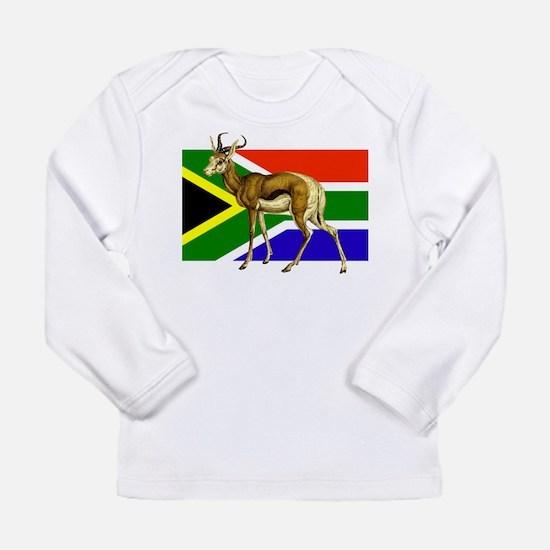 South Africa Springbok Flag Long Sleeve Infant T-S