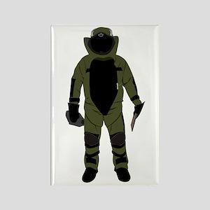 Bomb Suit Rectangle Magnet