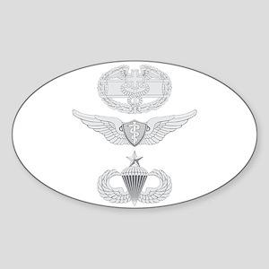 CFMB Flight Surgeon Airborne Senior Sticker (Oval)