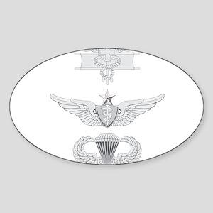 EFMB Flight Surgeon Senior Airborne Sticker (Oval)