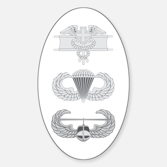 EFMB Airborne Air Assault Sticker (Oval)
