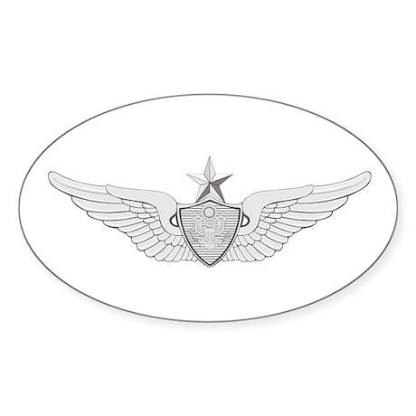 Sr Aviation Sticker (Oval)
