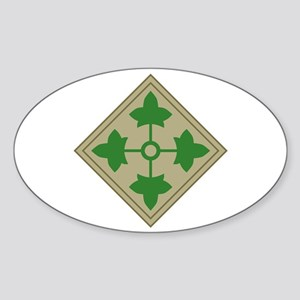 4th Infantry Sticker (Oval)