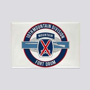 10th Mountain with CIB Rectangle Magnet