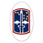 172nd Infantry Sticker (Oval)
