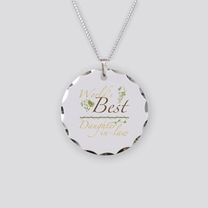 Vintage Best Daughter-In-Law Necklace Circle Charm