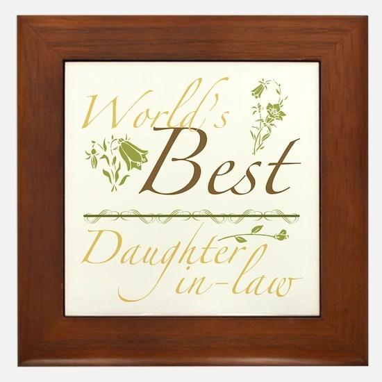 Vintage Best Daughter-In-Law Framed Tile