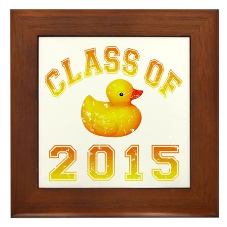 Class Of 2015 Rubber Duckie Framed Tile
