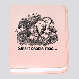 Smart People Read baby blanket