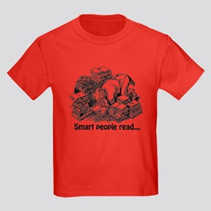Smart People Read Kids Dark T-Shirt