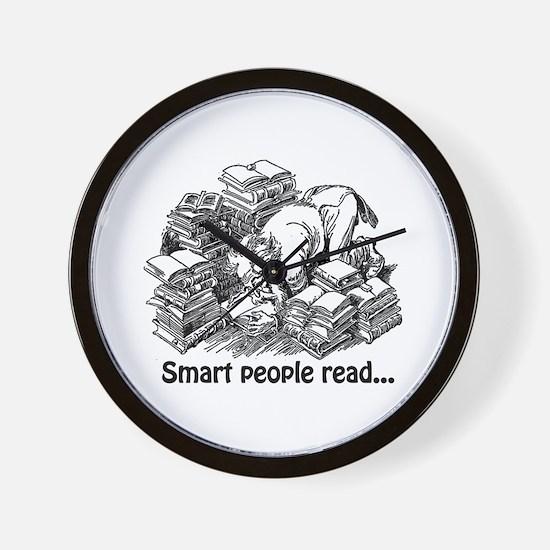 Smart People Read Wall Clock
