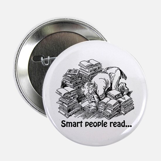 """Smart People Read 2.25"""" Button"""