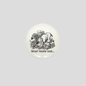 Smart People Read Mini Button