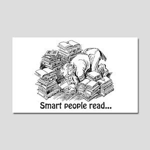 Smart People Read Car Magnet 20 x 12