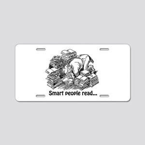 Smart People Read Aluminum License Plate