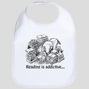 Reading is Addictive Bib