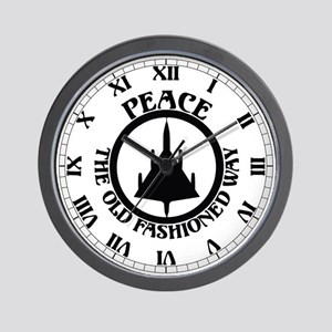 Peace via B-58 Wall Clock