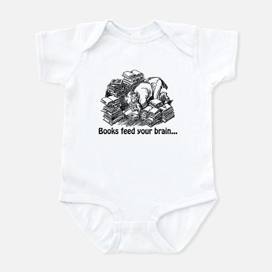 Books Feed Your Brain Infant Bodysuit