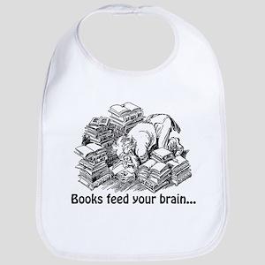 Books Feed Your Brain Bib