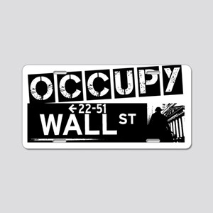 Occupy Wall Street Aluminum License Plate