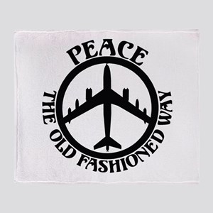 B-47 Peace The Old Fashioned Way Throw Blanket