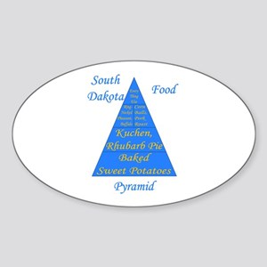 South Dakota Food Pyramid Sticker (Oval)