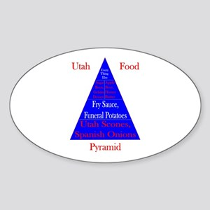 Utah Food Pyramid Sticker (Oval)