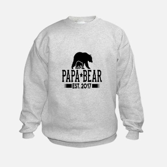 Papa Bear Est. 2017 Sweatshirt