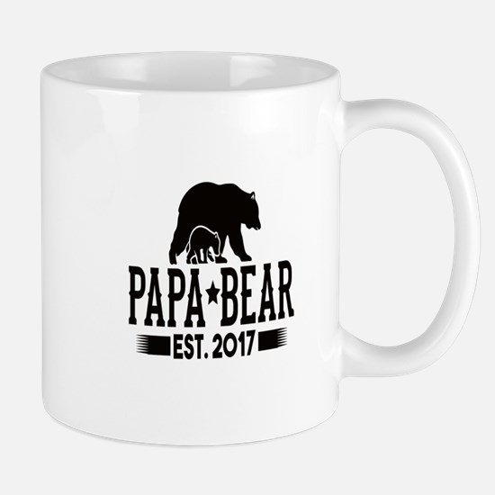 Papa Bear Est. 2017 Mugs