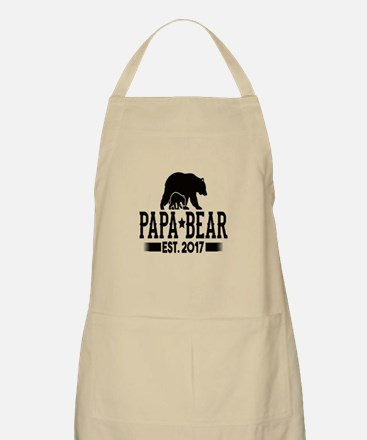 Papa Bear Est. 2017 Light Apron