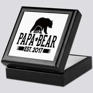 Papa Bear Est. 2017 Keepsake Box