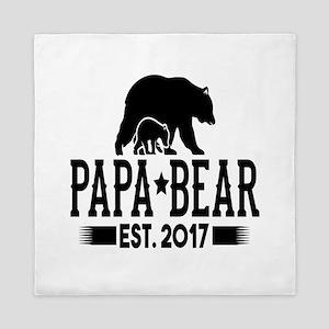 Papa Bear Est. 2017 Queen Duvet