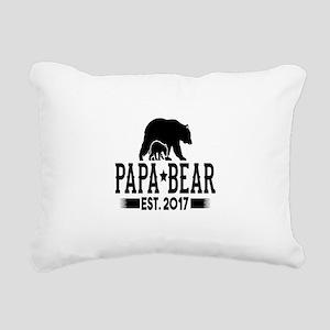 Papa Bear Est. 2017 Rectangular Canvas Pillow