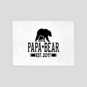 Papa Bear Est. 2017 5'x7'Area Rug