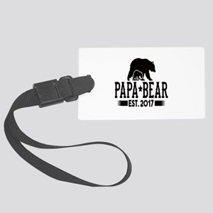 Papa Bear Est. 2017 Large Luggage Tag