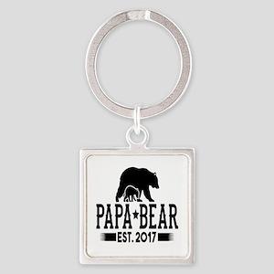 Papa Bear Est. 2017 Keychains