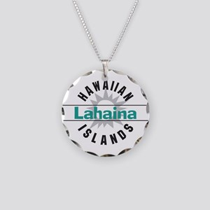 Lahaina Maui Hawaii Necklace Circle Charm