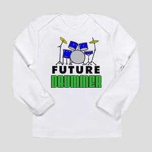 Future Drummer (Blue) Long Sleeve Infant T-Shirt