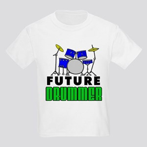 Future Drummer (Blue) Kids Light T-Shirt