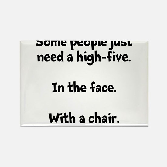 High-five chair Rectangle Magnet