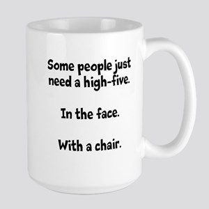 High-five chair Large Mug